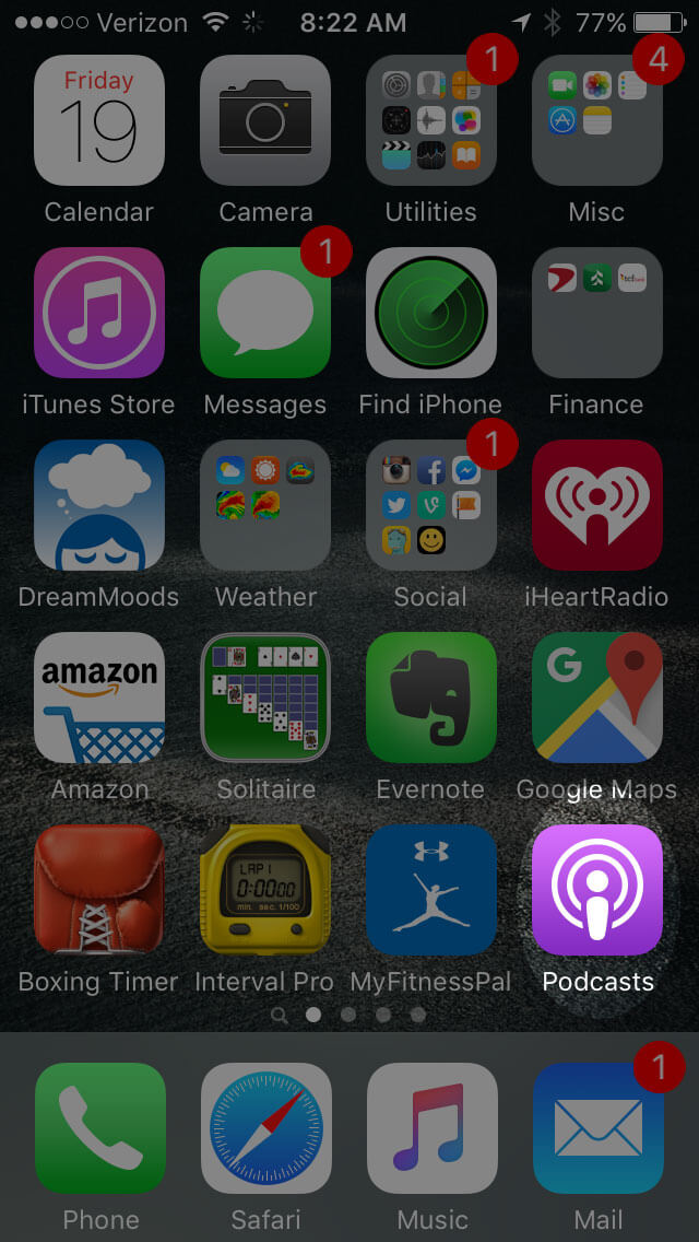"Open the ""Podcast"" app on your iPhone"