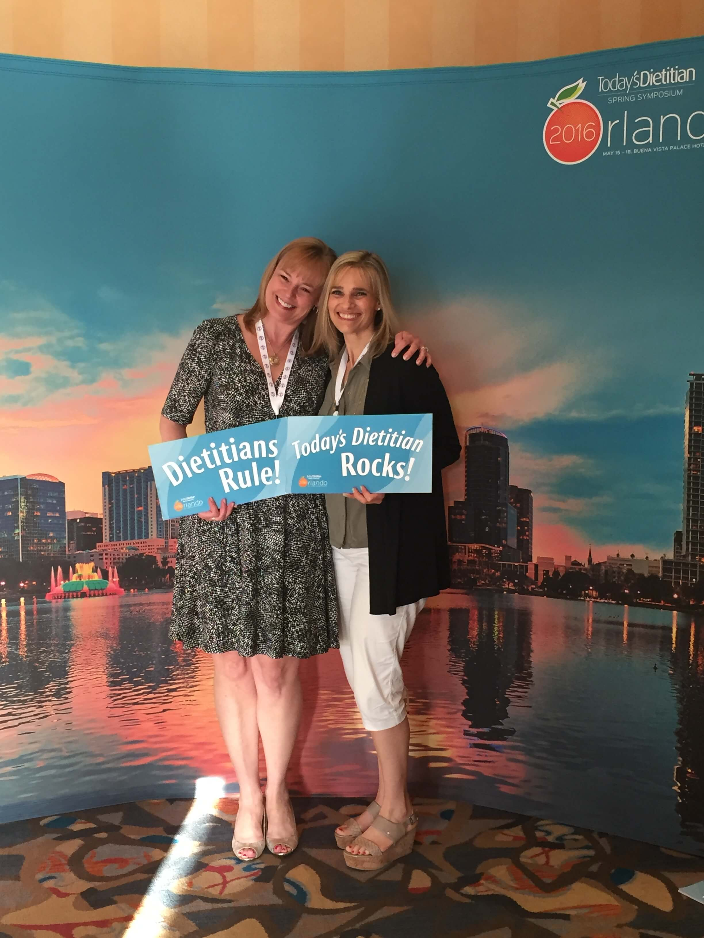 Me and Lauren at the Today's Dietitian Symposium in Orlando earlier this month