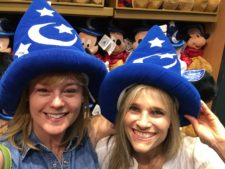 Melissa and Lauren goofing off in Orlando