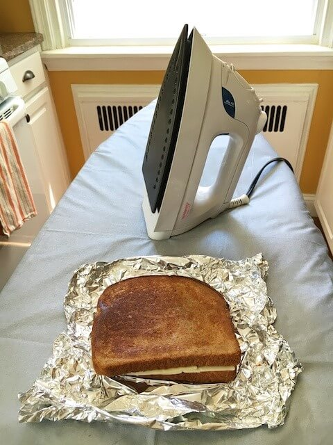 ironed grilled cheese