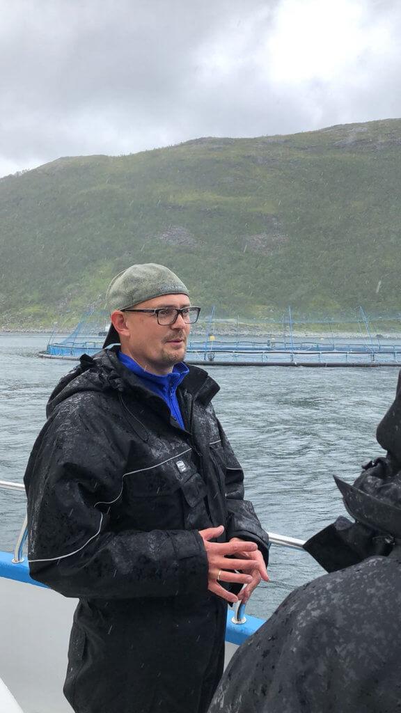 Egil talking about Norwegian Aquaculture