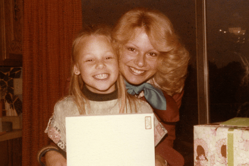 My mom and me on my 9th birthday