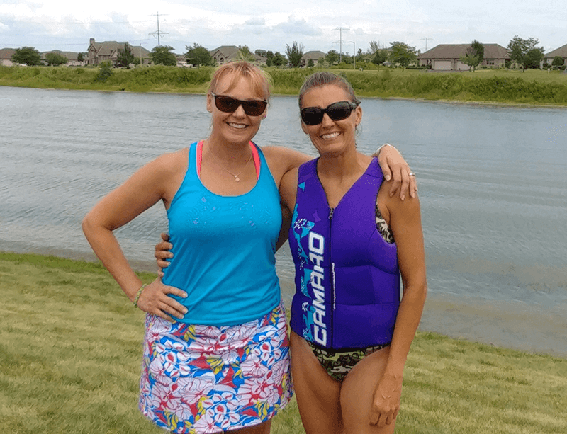 At Kirsten's waterski competition in July
