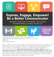 Express Engage Empower Be a Better Communicator Webinar Melissa Joy Dobbins