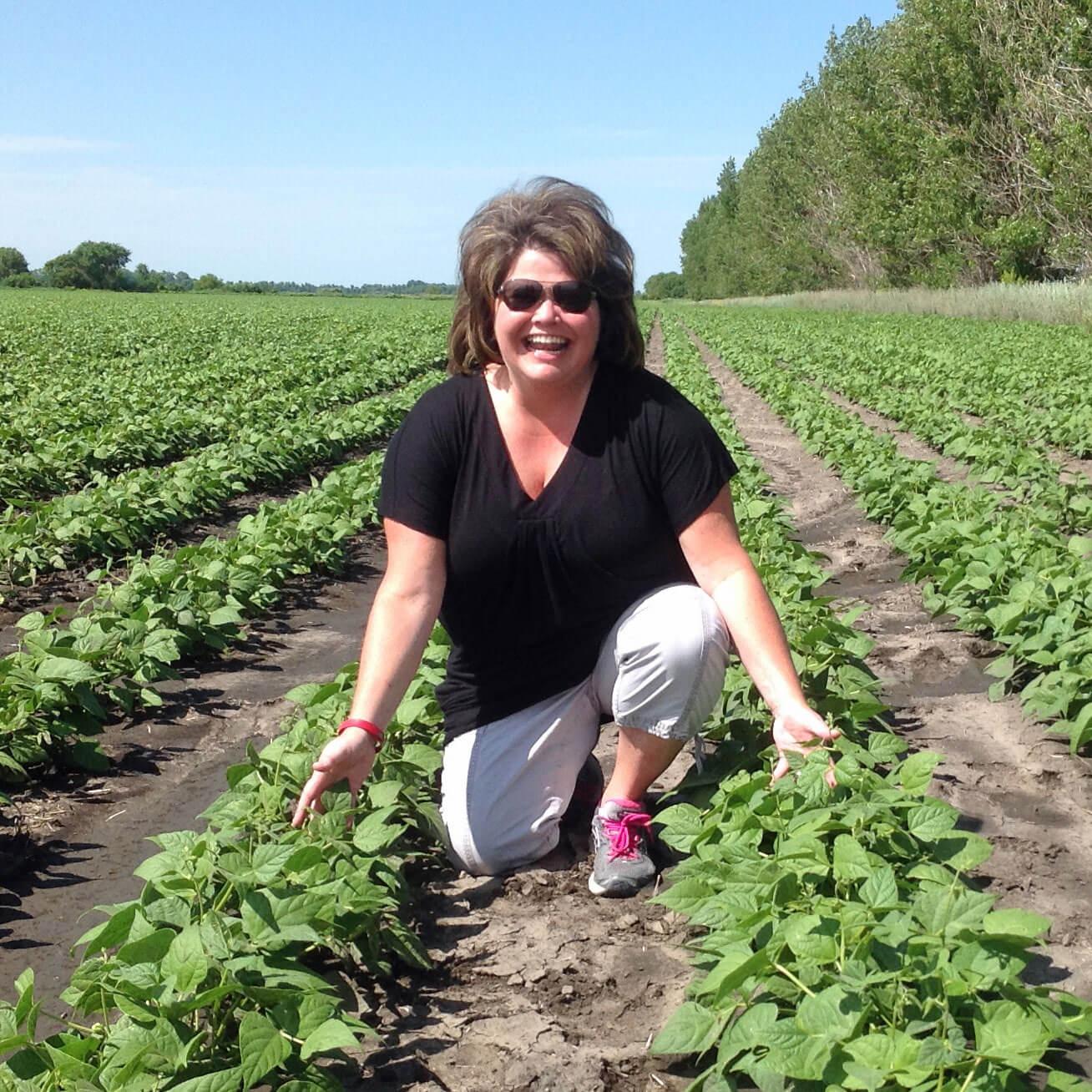 Amy Myrdal Miller in a Pinto Bean Field