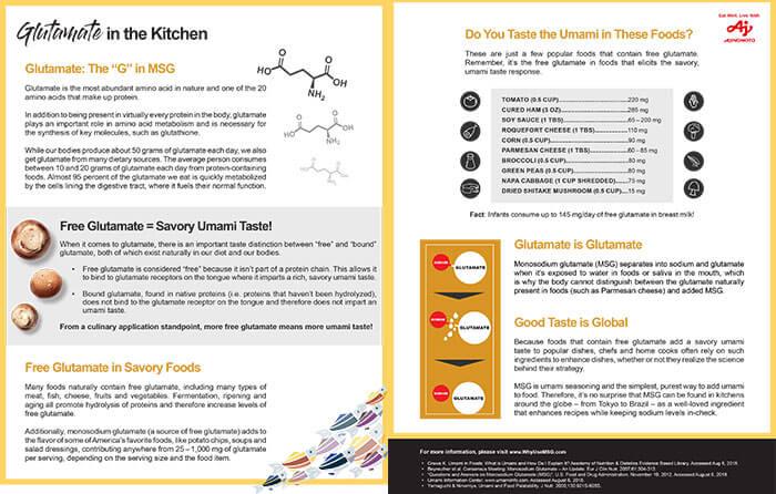 Glutamate in the Kitchen