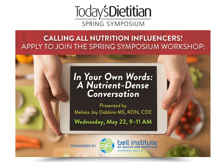 Today's Dietitian Spring Symposium with Melissa Dobbins