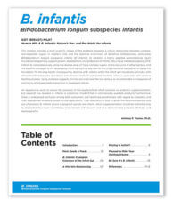 B. Infantis pre-and pro-biotic booklet from Anthony P. Thomas, PhD