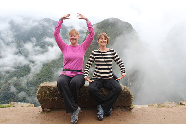 Jill Weisenberger and Melissa Dobbins in Machu Picchu